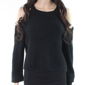NWT ELODIE BLACK COLD SHOULDER SWEATER SIZE XL